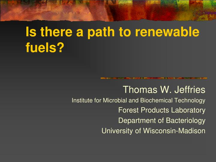 Is there a path to renewable