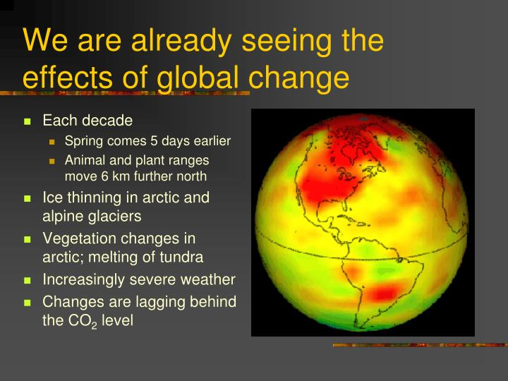 We are already seeing the effects of global change