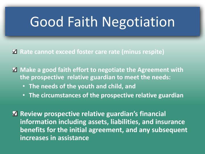 Good Faith Negotiation