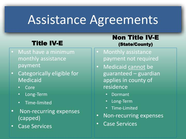 Assistance Agreements