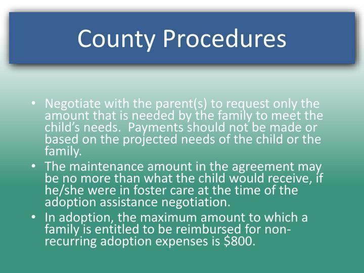 County Procedures