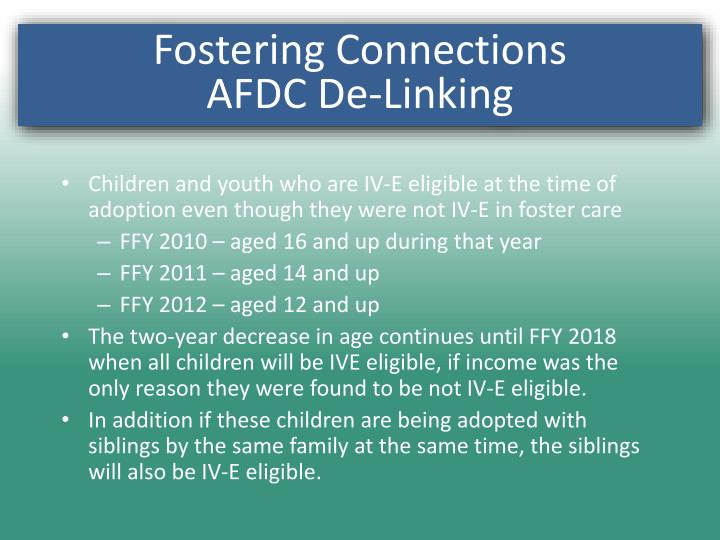 Fostering Connections