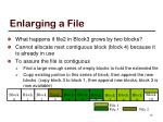 enlarging a file