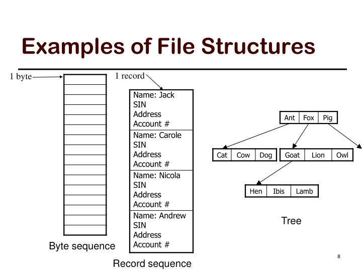 Examples of File Structures