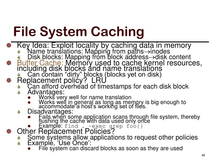 File System Caching