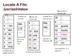 locate a file usr ast mbox