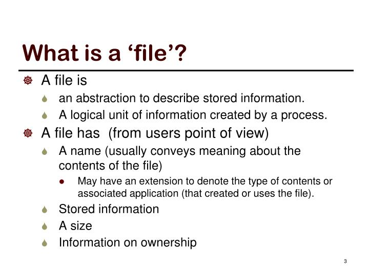 What is a 'file'?
