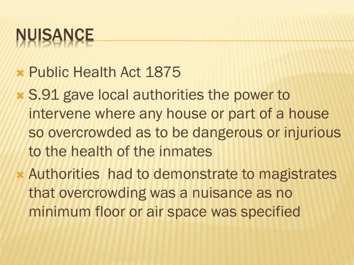 Public Health Act 1875