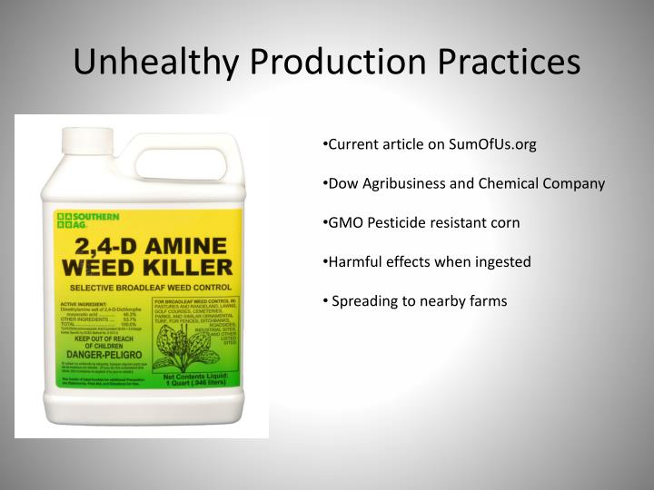 Unhealthy Production Practices