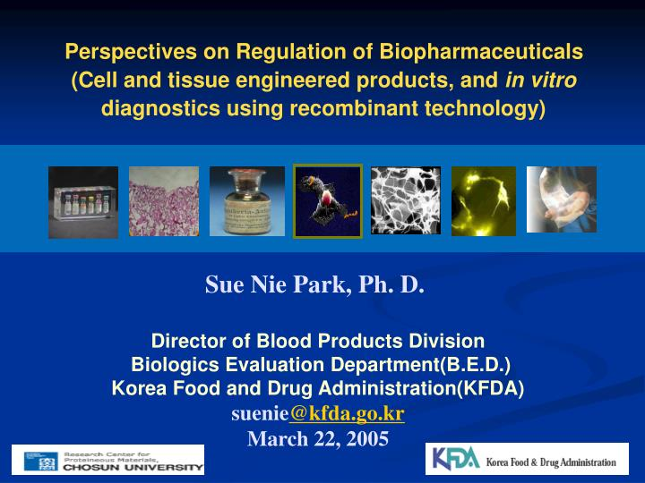 Perspectives on Regulation of Biopharmaceuticals