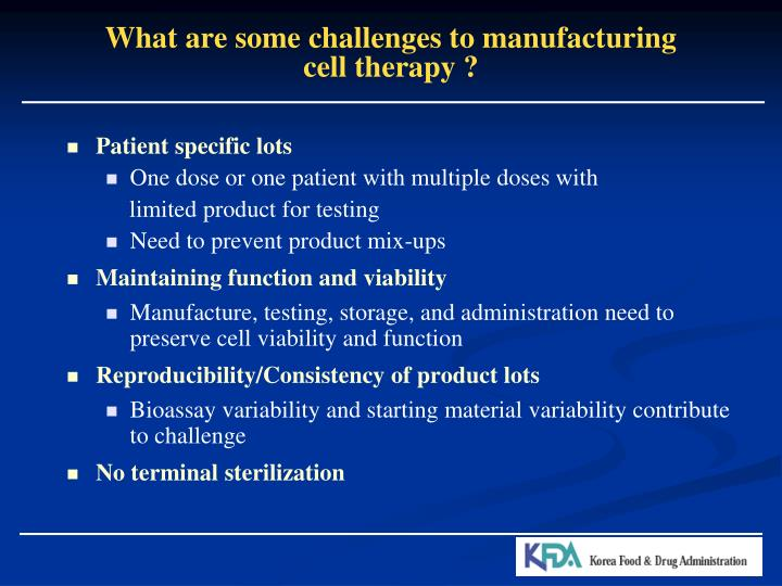 What are some challenges to manufacturing
