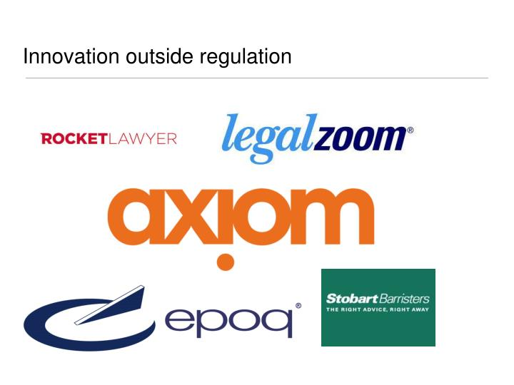 Innovation outside regulation