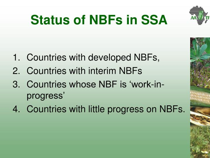 Status of NBFs in SSA