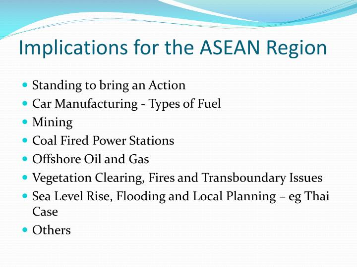 Implications for the ASEAN Region