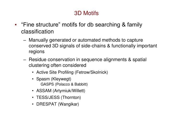 3D Motifs