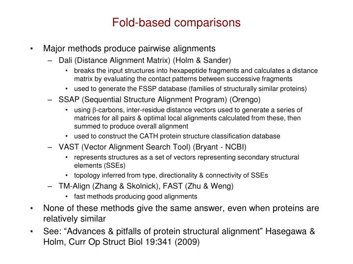 Fold-based comparisons