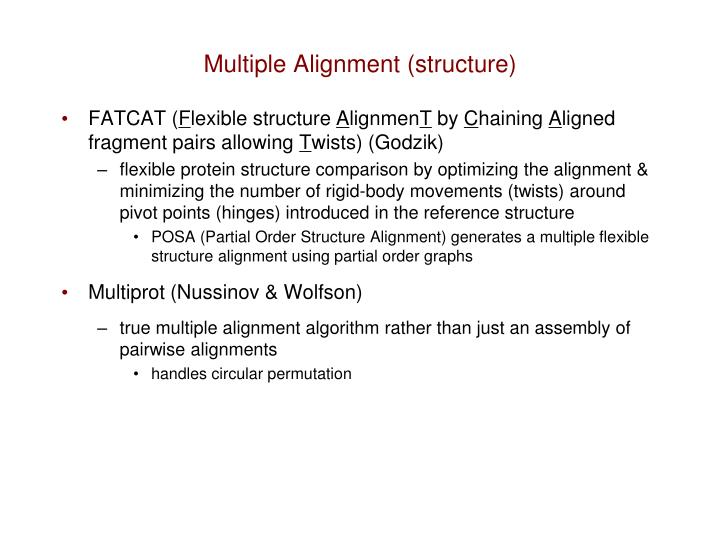 Multiple Alignment (structure)