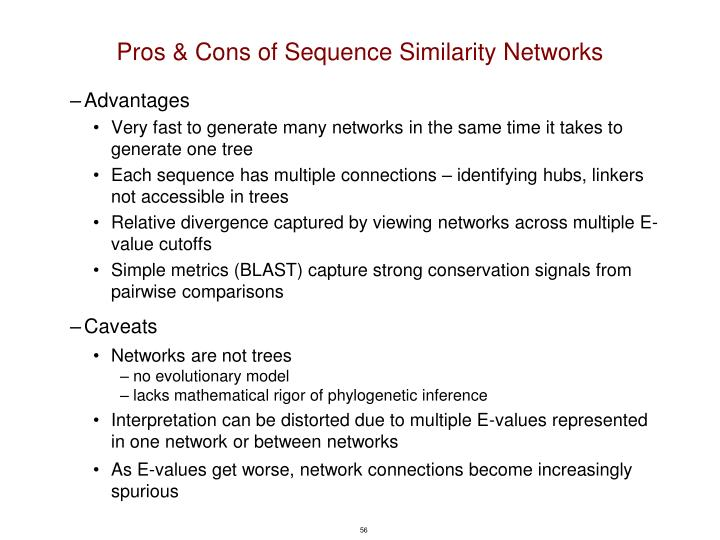 Pros & Cons of Sequence Similarity Networks