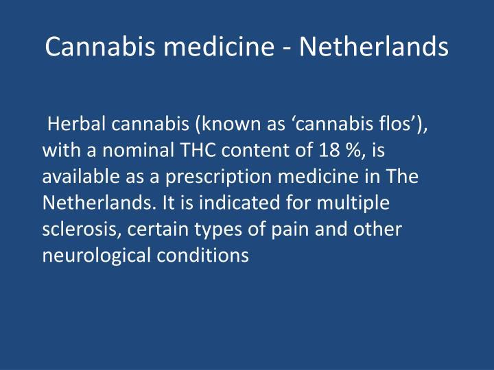Cannabis medicine - Netherlands