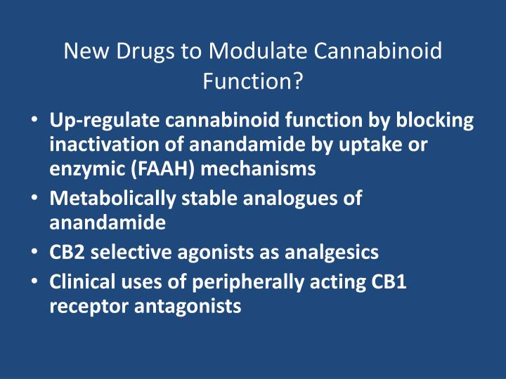 New Drugs to Modulate Cannabinoid Function?