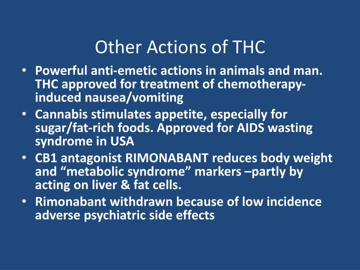 Other Actions of THC