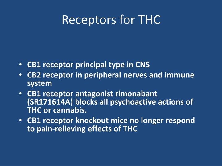 Receptors for THC