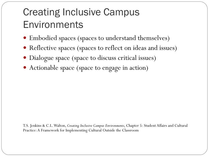 Creating Inclusive Campus Environments