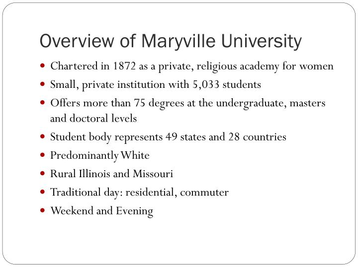 Overview of maryville university