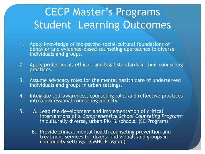 CECP Master's Programs