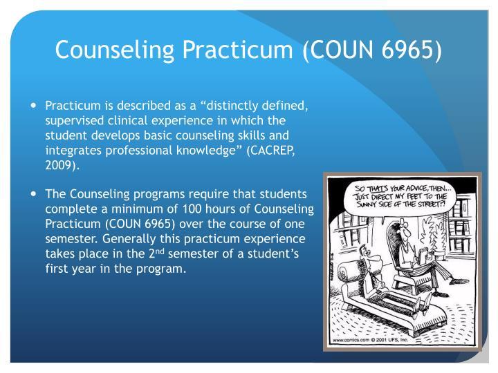 Counseling Practicum (COUN 6965)
