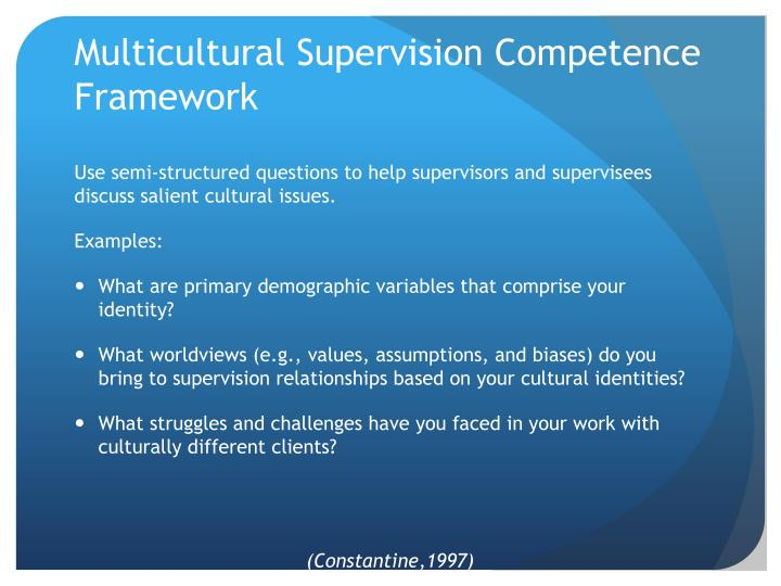 Multicultural Supervision Competence