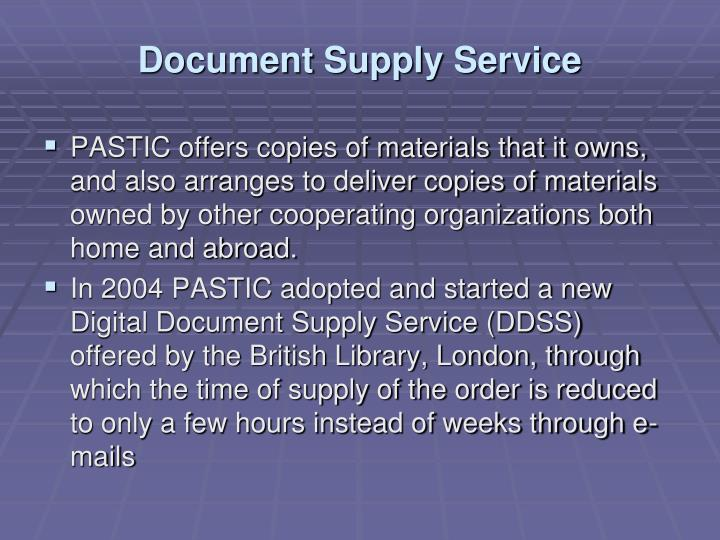 Document Supply Service