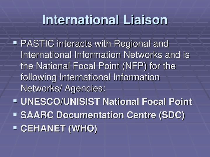 International Liaison