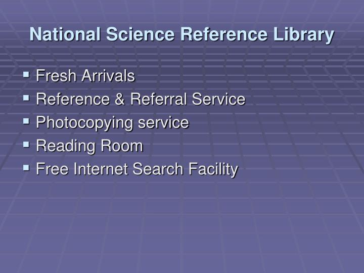 National Science Reference Library
