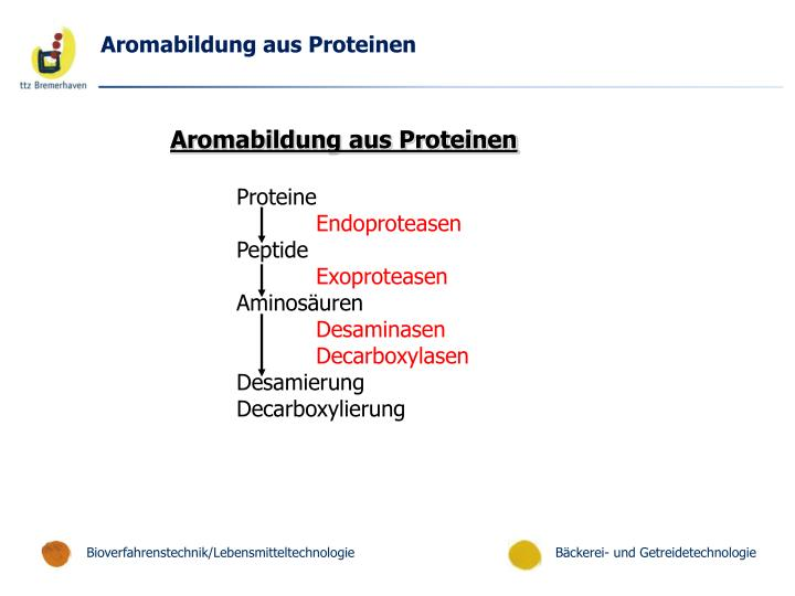 Aromabildung