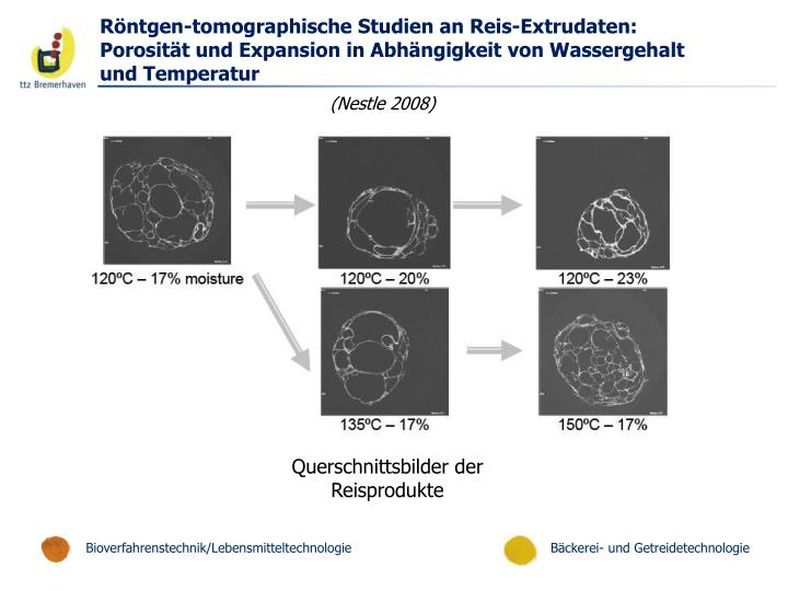Röntgen-tomographische Studien an Reis-