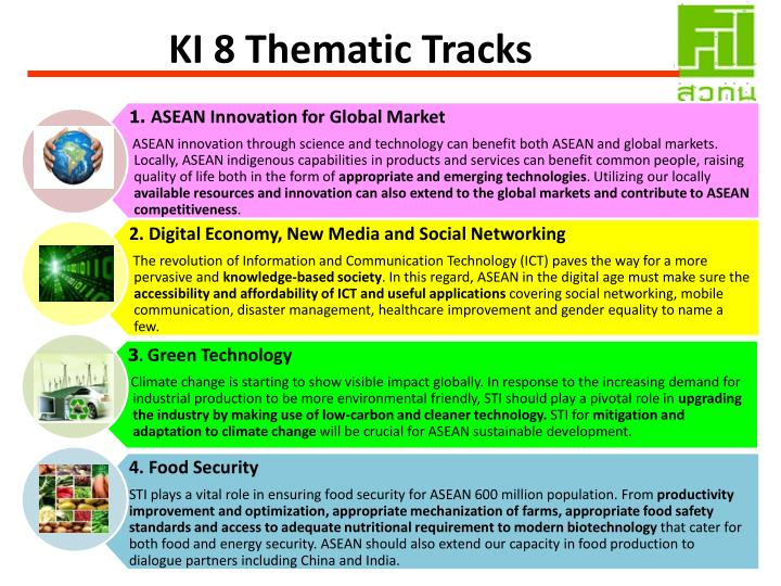 KI 8 Thematic Tracks