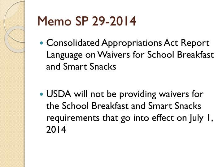 Memo SP 29-2014