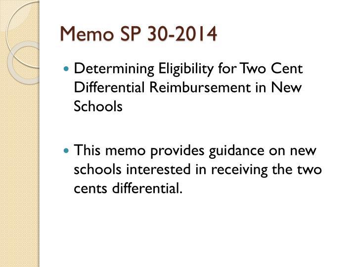 Memo SP 30-2014