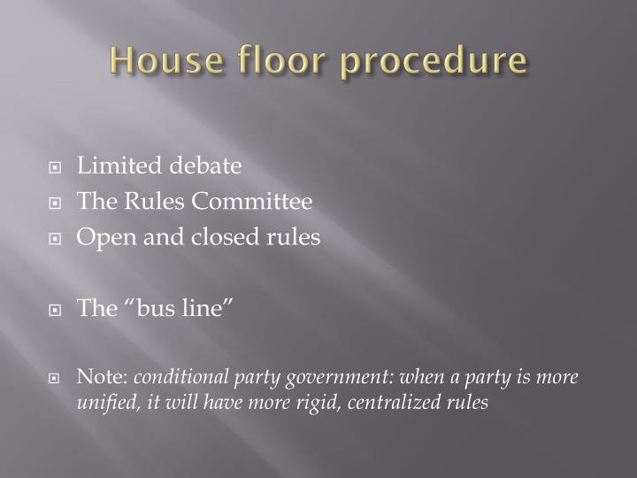 House floor procedure