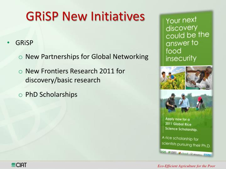 GRiSP New Initiatives
