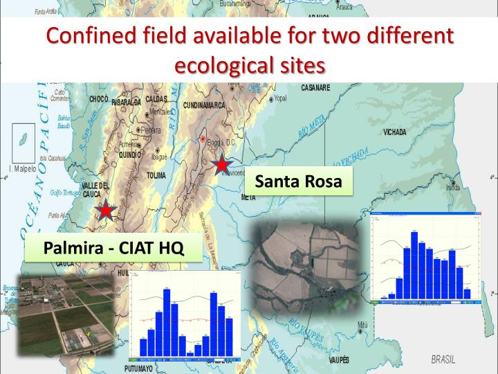 Confined field available for two different ecological sites