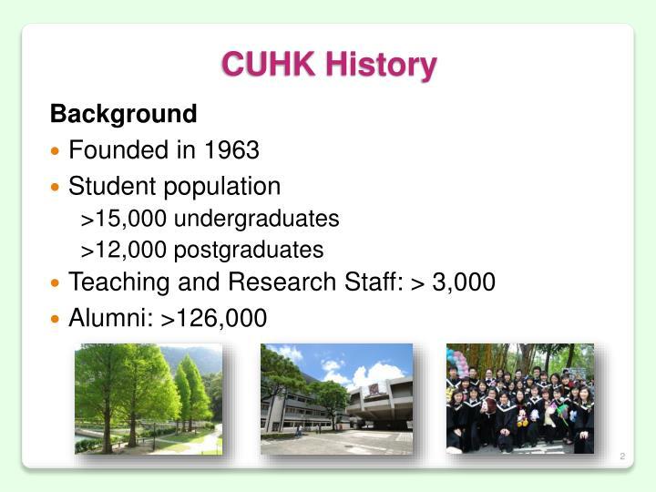 CUHK History