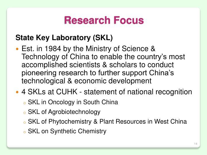 Research Focus