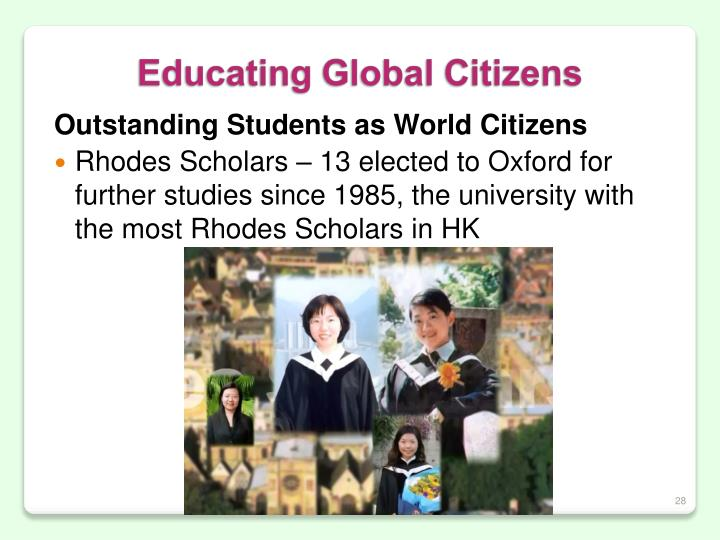 Outstanding Students as World