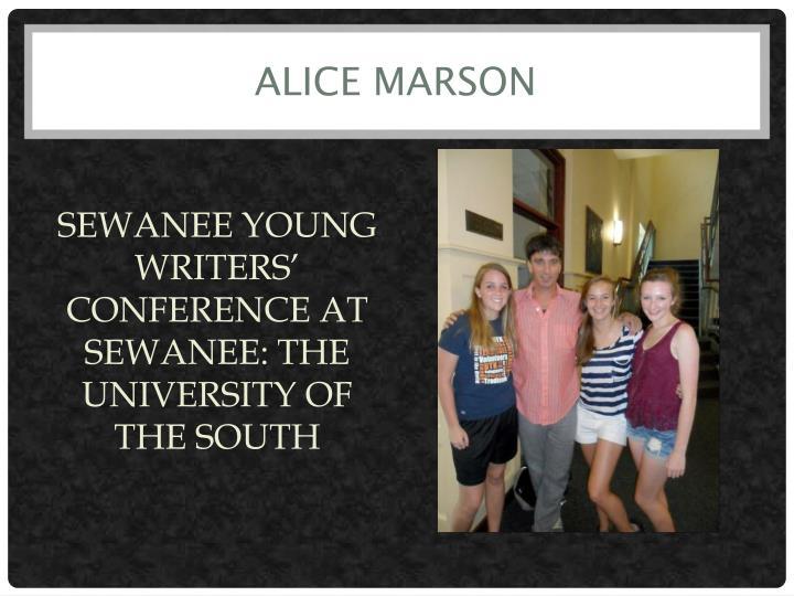 ALICE MARSON