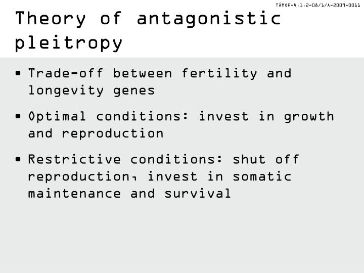 Theory of antagonistic
