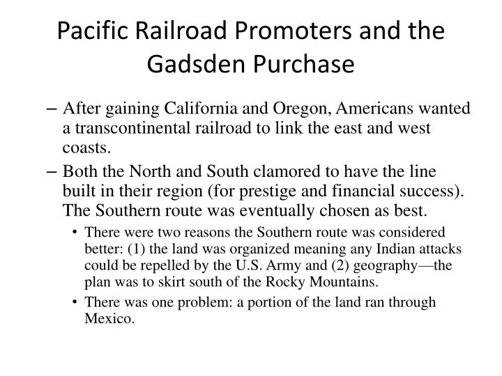 Pacific Railroad Promoters and the Gadsden Purchase