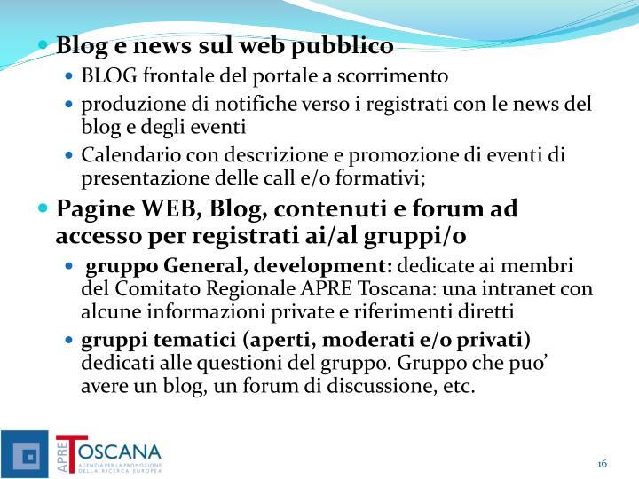 Blog e news