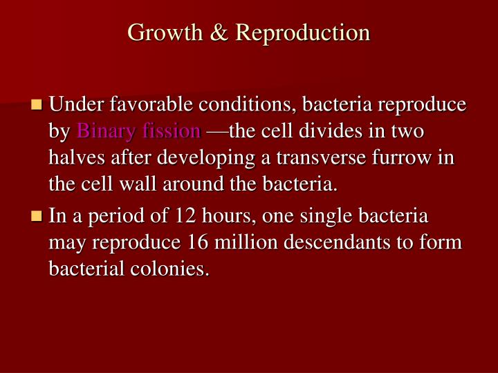 Growth & Reproduction